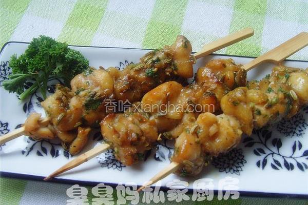 法香鸡肉串