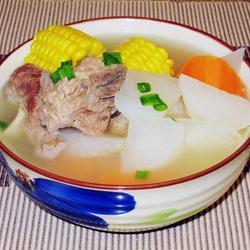红白萝卜大骨汤的做法[图]