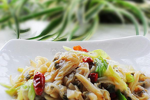 葱香蛤蜊肉