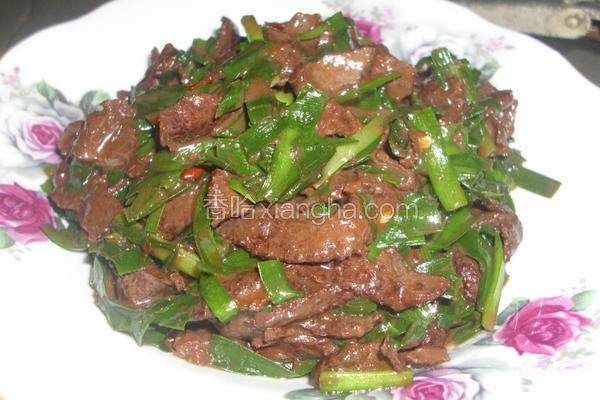 韭菜炒夹肝