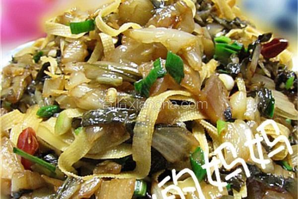 咸菜炒百叶