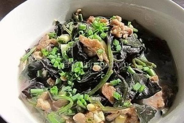 肉丝上汤紫背菜