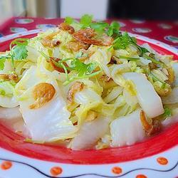 虾米炒大白菜的做法[图]