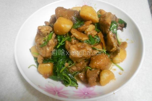 土豆炒鸡肉