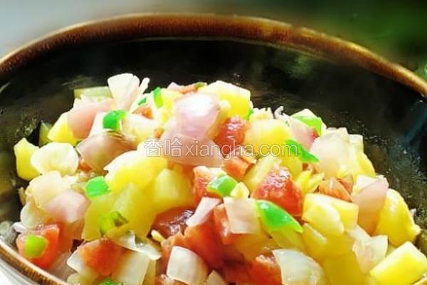 土豆洋葱香肠丁的做法[图]