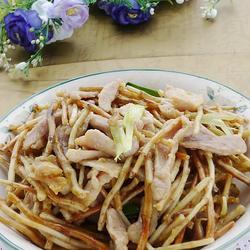 鱼腥草炒肉丝的做法[图]