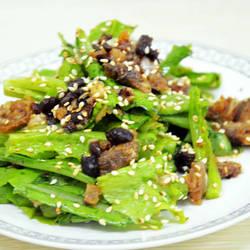 豆豉鲮鱼拌油麦菜的做法[图]