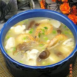 香菇海虾豆腐汤的做法[图]