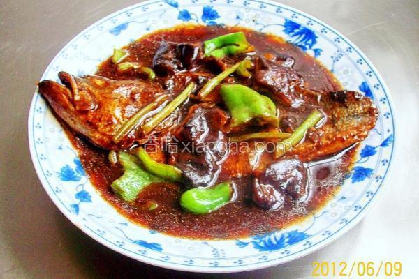 香葱香菇烤鲈鱼