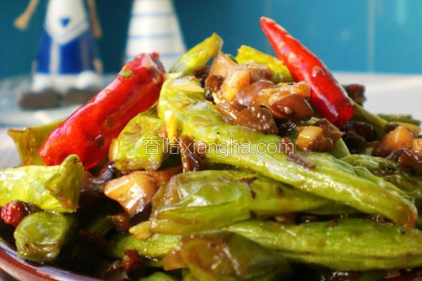 香菇芽菜煸芸豆