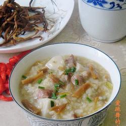 黃花菜咸肉粥的做法[圖]