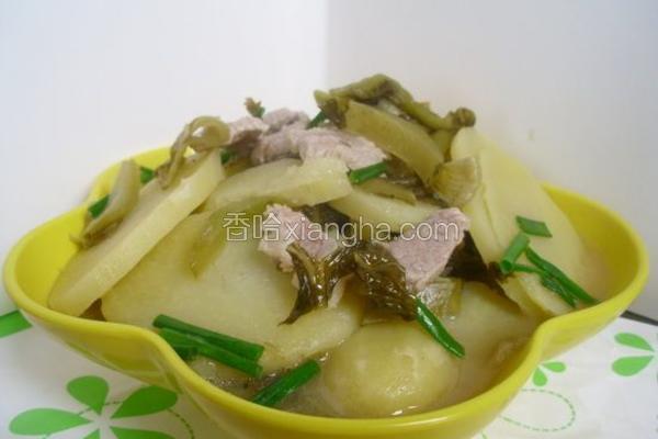 酸菜烧土豆