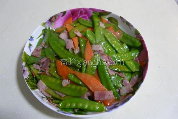 培根肉炒荷兰豆