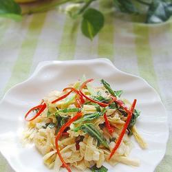 腐竹海米烧芥蓝的做法[图]