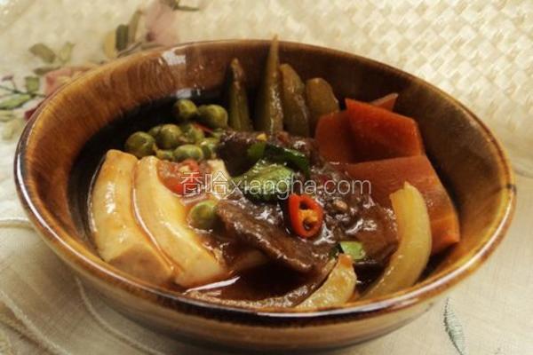 牛肉豆腐蔬菜煲