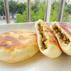 豆角肉餡發面餅的做法[圖]