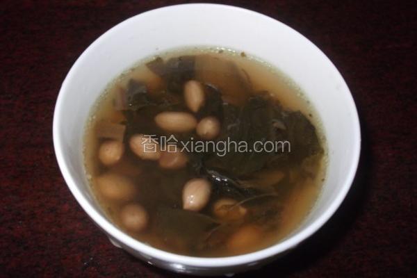 白菜干花生汤