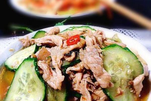 青瓜烩肉片
