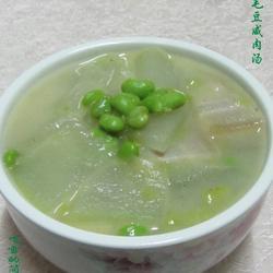 冬瓜毛豆咸肉汤的做法[图]