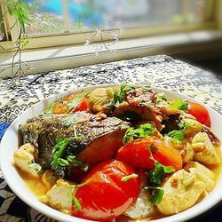 豆腐焖三文鱼头的做法[图]