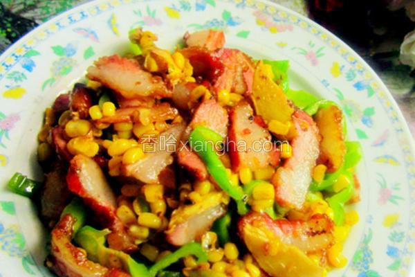 甜玉米炒腊肉