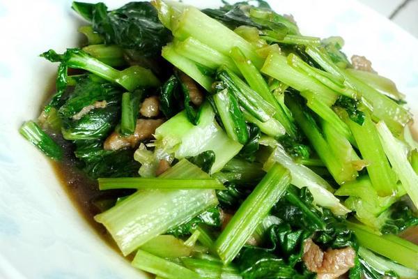 小白菜炒肉丝