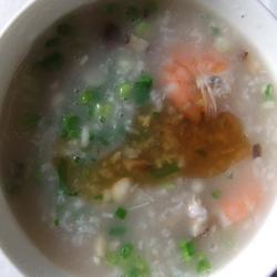 鲜虾香菇大米粥的做法[图]