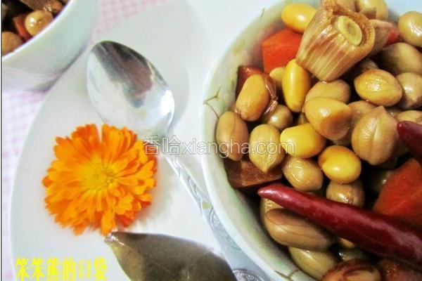 卤花生黄豆