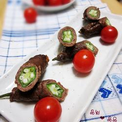 秋葵牛肉卷的做法[图]