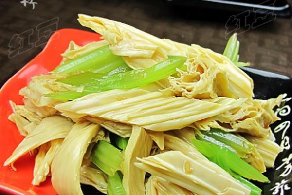 姜汁拌腐竹