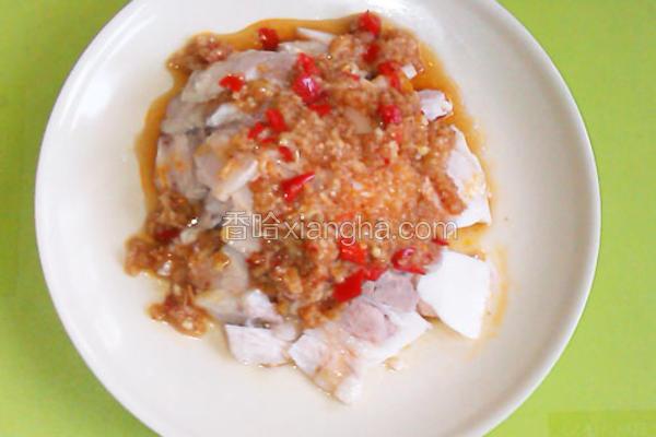 蒜泥剁椒拌白肉