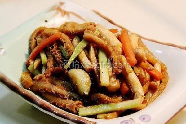 菌菇炒牛肚