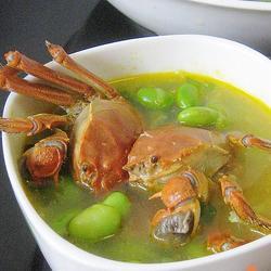 河蟹毛豆汤的做法[图]
