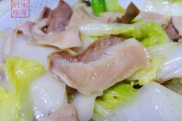 白菜炒猪肚