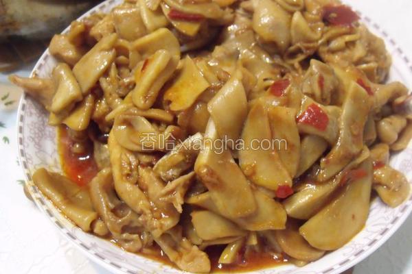 杏鲍菇炒鸡柳