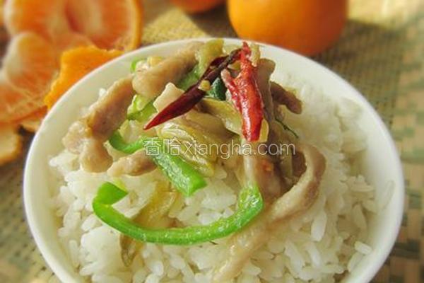 榨菜青椒肉丝
