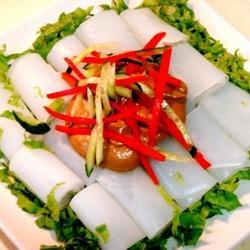 麻酱芥末绿豆粉卷的做法[图]