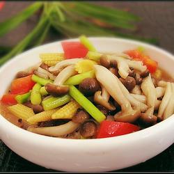 双笋素炒蟹味菇的做法[图]