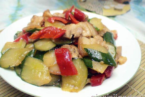 黄瓜炒五花肉的做法