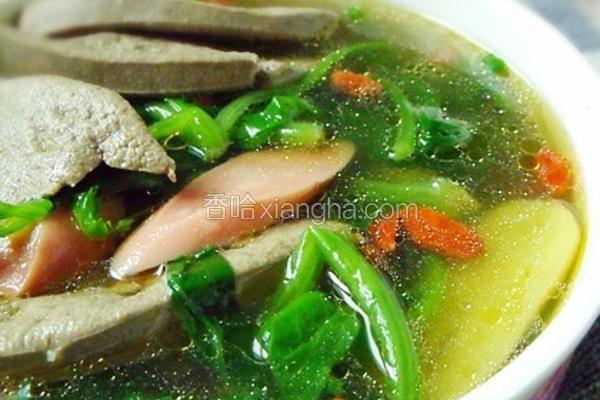 肝尖菠菜汤