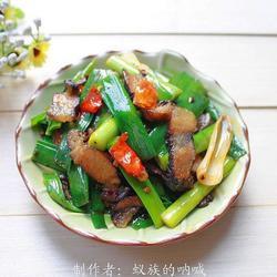 青蒜炒腊肉的做法[图]