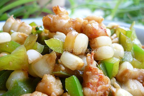 椒香玉米爆虾丁