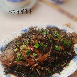 野菜干炖鲫鱼的做法[图]