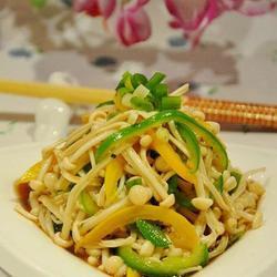 石香菜拌金针菇的做法[图]
