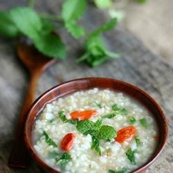 薄荷糙米粥的做法[图]