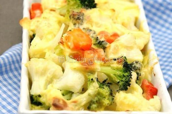 薯泥芝士焗菜花