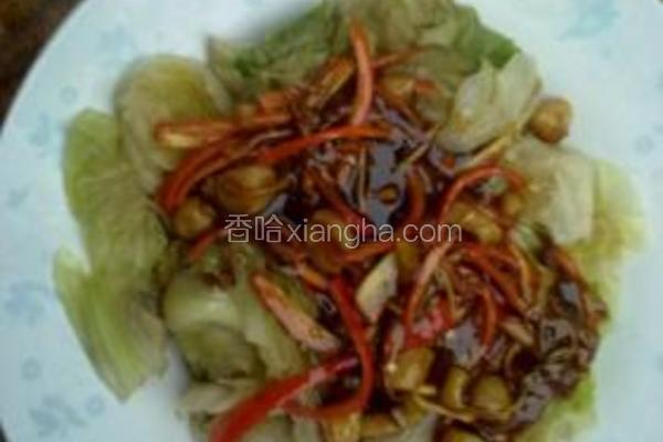 蚝油干贝生菜