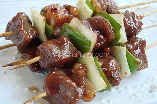 蜜汁柚香牛肉串