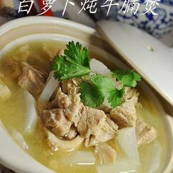 白萝卜炖牛腩煲的做法[图]