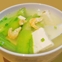 海米丝瓜豆腐汤的做法[图]